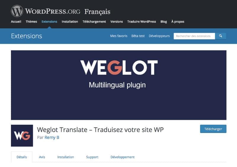 Plugin Weglot Translate