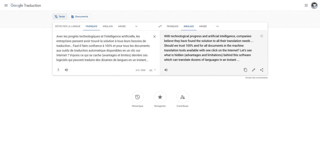 Google Translate Traducteur Français Anglais