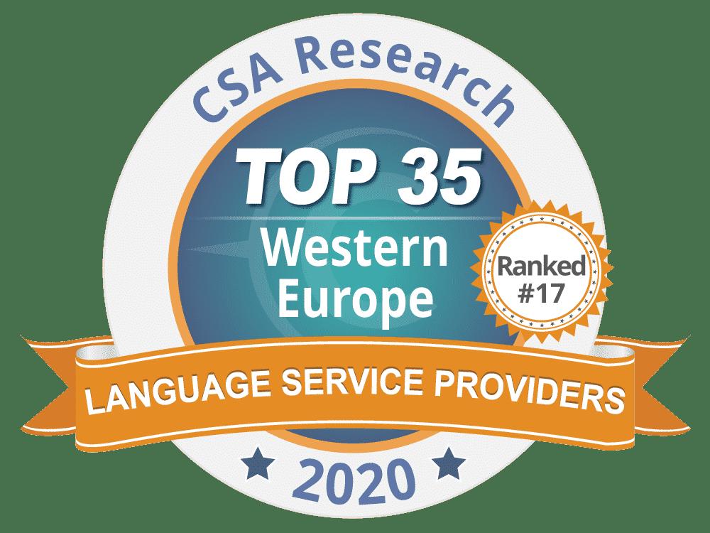 Classement européen 2020 des entreprises de traduction